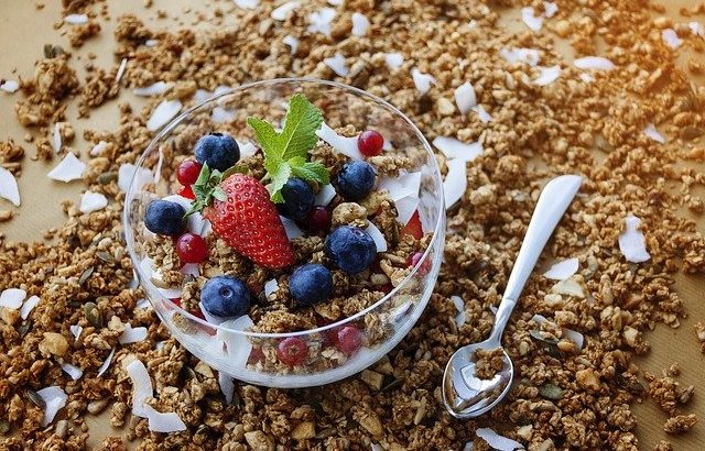 Granola Berry Oatmeal Healthy Diet