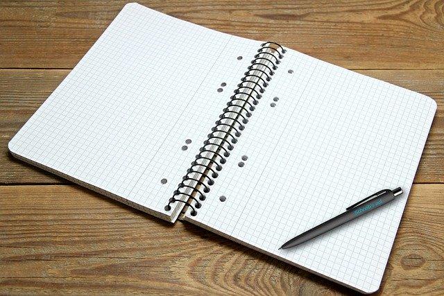 Book Writing Pad Notepad Checkered  - guvo59 / Pixabay
